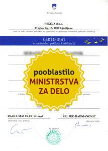 certifikat za splet